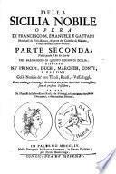 Della Sicilia nobile opera di Francesco Maria Emanuele e Gaetani marchese di Villa Bianca ..