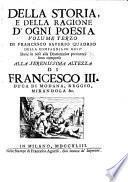 Della storia e della ragione d'ogni poesia