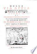 Della via Appia riconosciuta e descritta da Roma a Brindisi libri IV