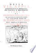 Della via Appia riconosciuta e descritta da Roma a Brindisi tibri quattro