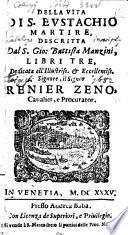Della vita di S. Eustachio martire libri tre (etc.)