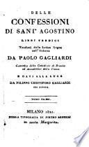 Delle Confessioni di Sant' Agostino