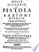 Delle Historie Di Pistoia E Fazioni D'Italia
