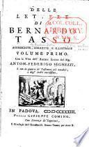 Delle lettere di M. Bernardo Tasso