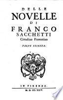 Delle Novelle di Franco Sacchetti