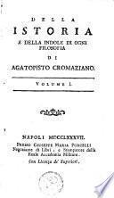 Delle opere di Agatopisto Cromaziano