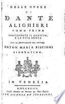 Delle opere di Dante Alighieri