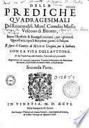 Delle Prediche ... Monsignor F. Cornelio Musso