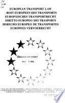 Derecho Europeo de transportes