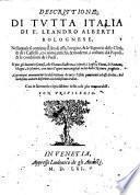 Descrittione di tutta Italia ... Aggiuntavi nuovamente la decrittione di tutte l'Isole pertinenti ad essa Italia