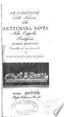 Descrizione delle funzioni della Settimana santa nella capella pontificia