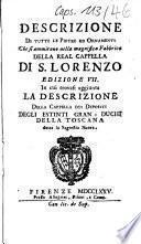 Descrizione Di Tutte Le Pietre Ed Ornamenti Che si ammirano nella magnifica Fabbrica Della Real Cappella Di S. Lorenzo