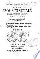 Descrizione geografica dell'isola di Sicilia e dell'atre sue adiacenti