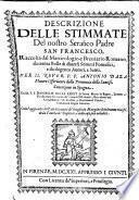 Descrizioni delle Stimmate del Serafico Padre Sano Francesco