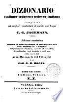 Deutsch-italienisches und italienisch-deutsches Worterbuch nach den besten Quellen beider Sprachen