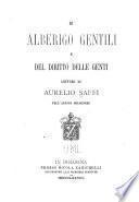 Di Alberigo Gentili e del diritto delle genti