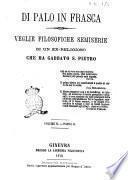 Di palo in frasca veglie filosofiche semiserie di un ex religioso che ha gabbato S. Pietro