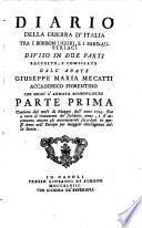 Diario della guerra d'Italia tra i Borbon Liguri e i Sard-Austriaci