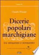 Dicerie popolari marchigiane tra Ottocento e Novecento