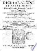 Dichiarationi et avertimenti poetici, istorici, politi- ci, cavallereschi e morali nella gerusalemme conquistata