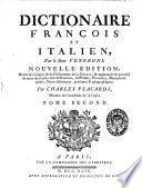 Dictionaire italien et francois, par le siuer Veneroni