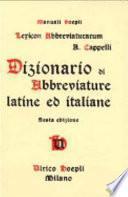 Dictionnaire alphabétique d'abréviations latines et italiennes des manuscrits