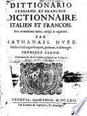 Dictionnaire italien et franc̦ois