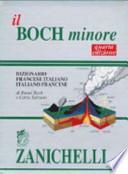 Dictionnaire Minore : français-italien, italiano-francese