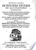 Dieci libri di pensieri diversi di Alessandro Tassoni