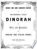 Dinorah. For voice and pianoforte, with English and Italian words