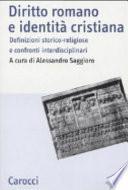 Diritto romano e identità cristiana