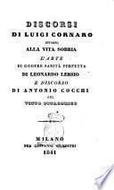 Discorsi di Luigi Cornaro intorno alla vita sobria di Leonardo Lessio