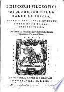 Discorsi sopra il sogno de Scipione di M. Tullio