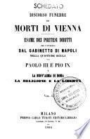 Discorso funebre pei morti di Vienna la religione e la libertà