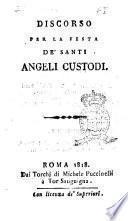 Discorso per la festa de' santi angeli custodi
