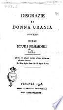 Disgrazie di donna Urania ovvero Degli studj femminili