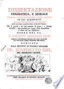 Dissertazione dogmatica, e morale contro l'uso materiale delle parole