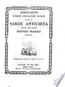 Dissertazioni storiche apologetiche critiche delle Sarde antichità