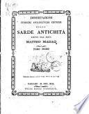 Dissertazioni storiche apologetiche critiche delle sarde antichità scritte dall'abate Matteo Madao. Tomo primo (- )