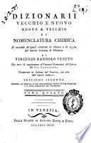 Dizionarii vecchio e nuovo nuovo e vecchio di nomenclatura chimica
