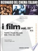 Dizionario del cinema italiano. I film