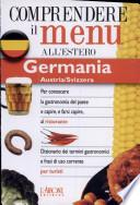Dizionario del menu per i turisti. Germania