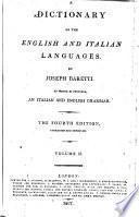 Dizionario delle lingue italiana ed inglese: English and Italian