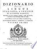Dizionario delle lingue italiana, ed inglese