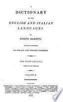 Dizionario delle lingue italiana ed inglese, preceduto da una grammatica delle due lingue