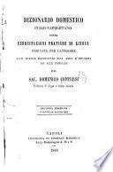 Dizionario domestico italo-napoletano, ossia esercitazioni pratiche di lingua ordinate per categorie