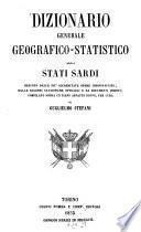 Dizionario generale geografico-statistico degli Stati Sardi