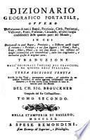 Dizionario Geografico Portatile