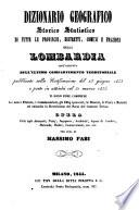 Dizionario geografico storico statistico di tutte le provincie (etc.)