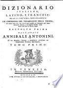 Dizionario italiano, latino, francese
